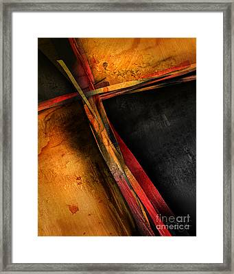 Healing Stripes Framed Print by Shevon Johnson