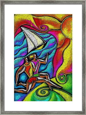 Healthy Jog Framed Print by Leon Zernitsky