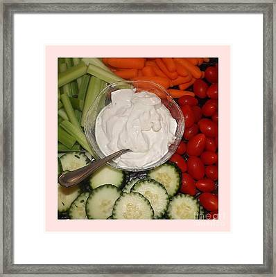 Healthy Start Framed Print by Sara  Raber