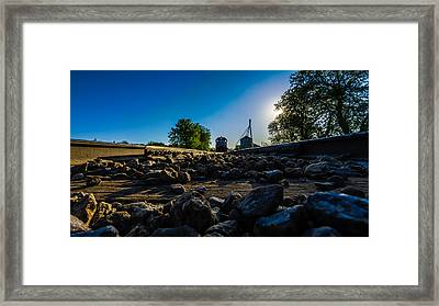 Hear My Train A Comin' Framed Print by Randy Scherkenbach