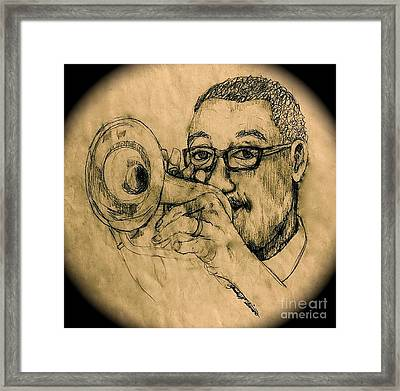 Hear The Music Framed Print by Linda Simon