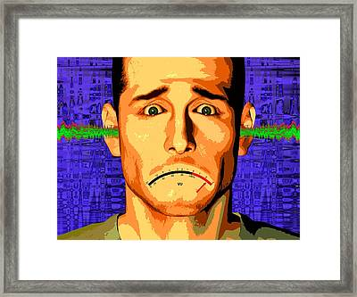 Hearing Damage, Conceptual Artwork Framed Print by Science Photo Library