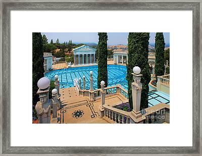 Hearst Castle Neptune Pool Framed Print by Inge Johnsson
