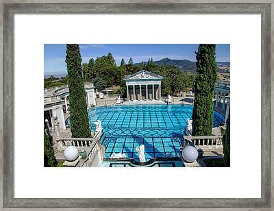 Hearst Castle Pool - California Framed Print by Jon Berghoff