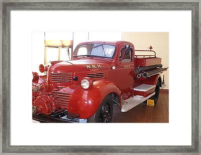 Hearst Fire Truck Framed Print by Barbara Snyder