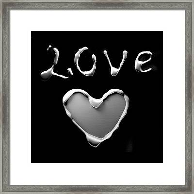 Heart And Love Framed Print by Gina Dsgn