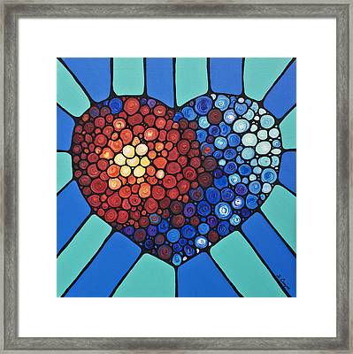 Heart Art - Love Conquers All 2  Framed Print by Sharon Cummings