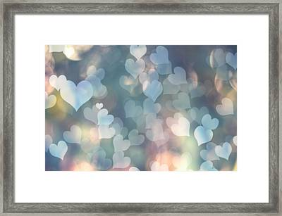 Heart Background Framed Print by Amanda And Christopher Elwell
