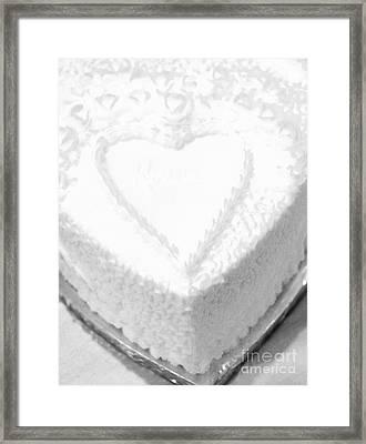 Heart Cake Framed Print by Kathleen Struckle