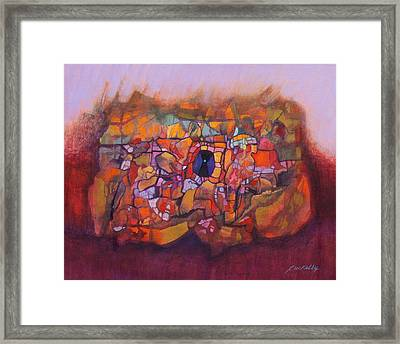 Heart Cave Framed Print by J W Kelly