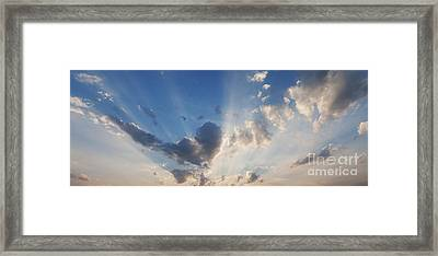 Heart Cloud Framed Print by Tim Gainey