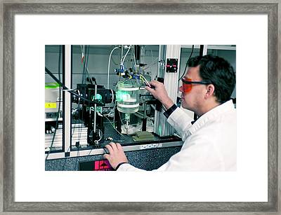 Heart Electrophysiology Research Framed Print by Food & Drug Administration