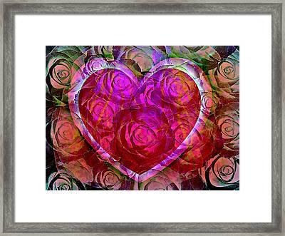Heart Felt Roses Framed Print by Shirley Sirois