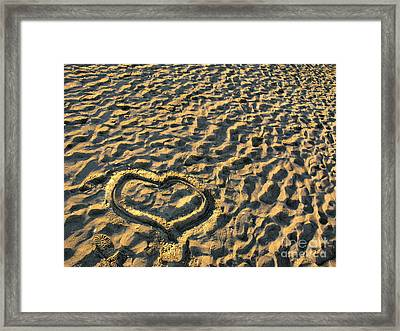Heart For Valentine's Day Framed Print by Daliana Pacuraru