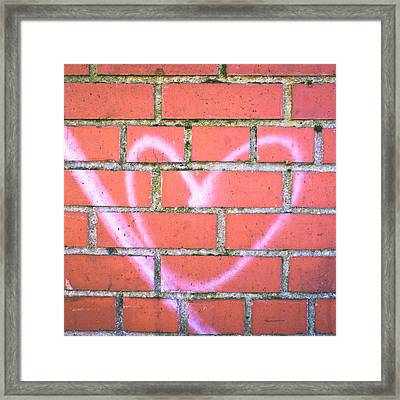 Heart Graffiti Framed Print by Tom Gowanlock