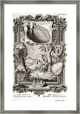 Heart Illustrated As Pumping Machine Framed Print by Wellcome Images
