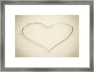 Heart In Sand Seaside New Jersey Framed Print by Terry DeLuco