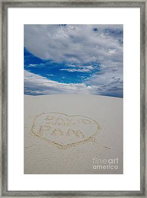 Heart In The Sand Framed Print by David Arment