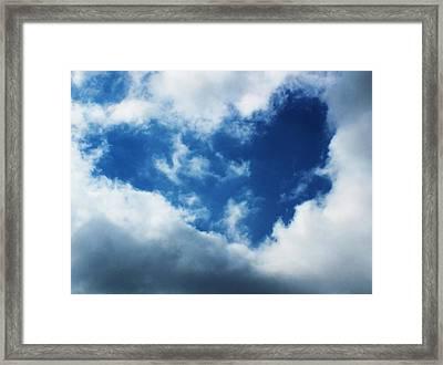 Heart In The Sky Framed Print by Anna Villarreal Garbis