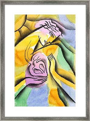 Heart Framed Print by Leon Zernitsky