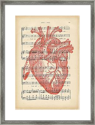 Heart Music Framed Print by Georgia Fowler