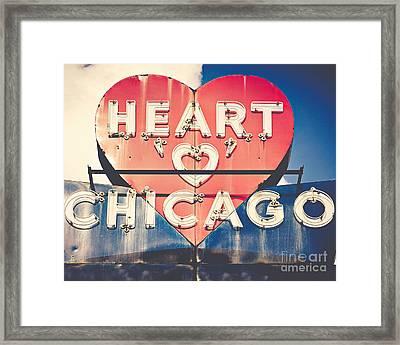 Heart Of Chicago Framed Print by Emily Kay
