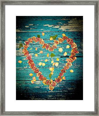 Heart Of Roses-1 Framed Print by Rudy Umans