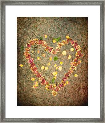 Heart Of Roses-2 Framed Print by Rudy Umans