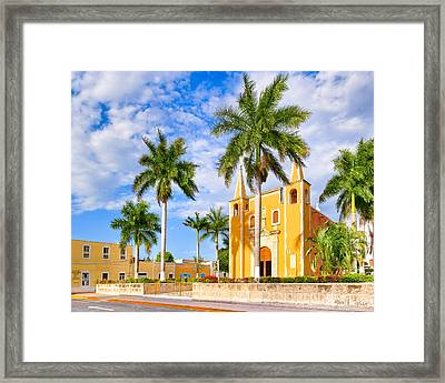Heart Of Santa Ana Barrio - Merida Framed Print by Mark E Tisdale
