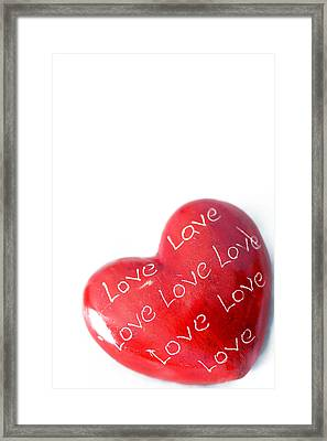 Heart Of Stone 2 Framed Print by Paul Lilley