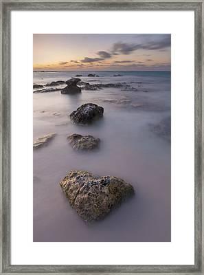 Heart Of Stone Framed Print by Adam Romanowicz