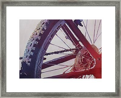 Heart Of The Bike Framed Print by Jenny Armitage