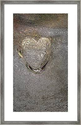 Heart Of The Matter Framed Print by Claudia Goodell