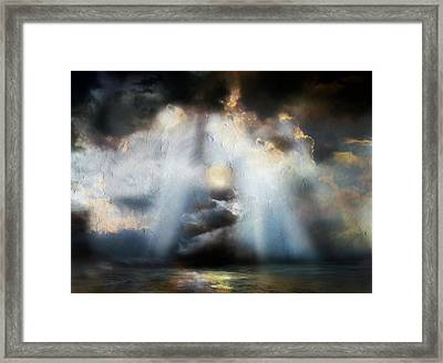 Heart Of The Storm - Abstract Realism Framed Print by Georgiana Romanovna