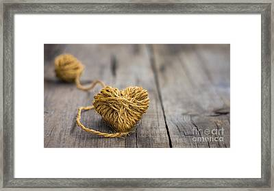 Heart Out Of String Framed Print by Aged Pixel