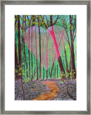 Heart Portal In The Woods Framed Print by R Neville Johnston