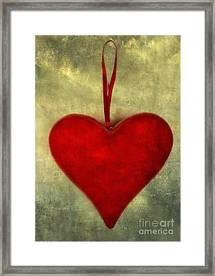 Heart Shape Framed Print by Bernard Jaubert
