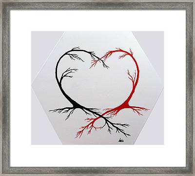 Heart Trees - Arteries Of Love Framed Print by Marianna Mills