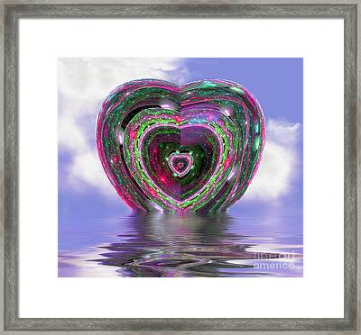Heart Up Framed Print by Dee Flouton