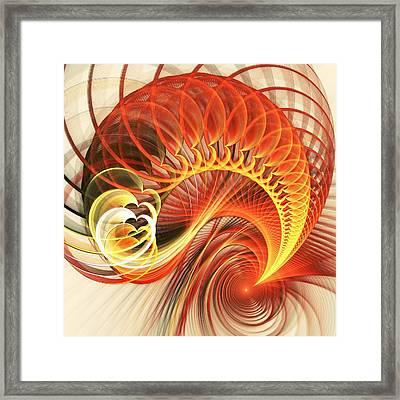 Heart Wave Framed Print by Anastasiya Malakhova