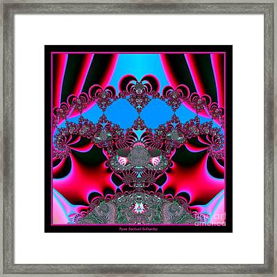 Hearts Ballet Curtain Call Fractal 121 Framed Print by Rose Santuci-Sofranko