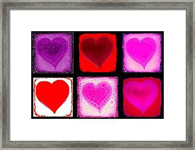 Hearts Framed Print by Cindy Edwards