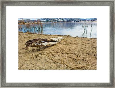 Hearts Drifting Framed Print by Phyllis Bradd