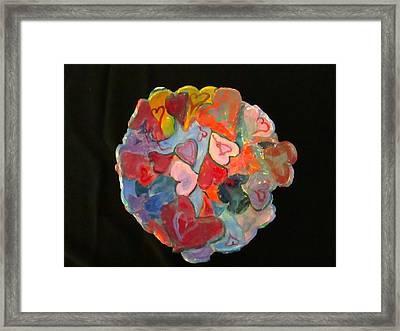 Hearts Hand Built Framed Print by Martha Nelson