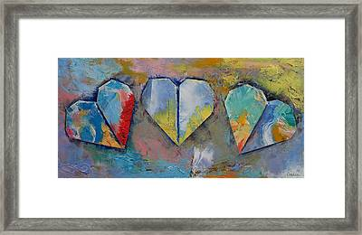 Hearts Framed Print by Michael Creese