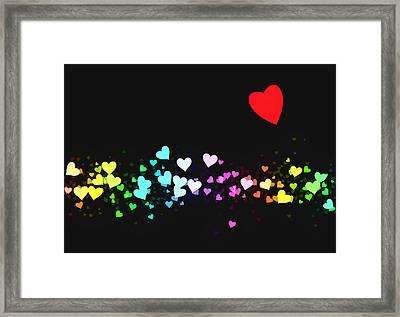 Hearts Trail Framed Print by Daniel Hagerman