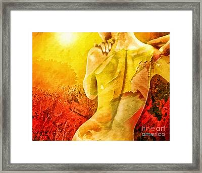 Heat Framed Print by Mo T