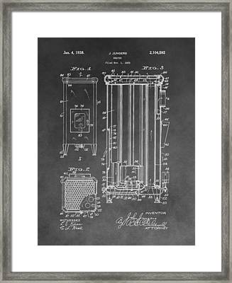 Heater Patent Framed Print by Dan Sproul