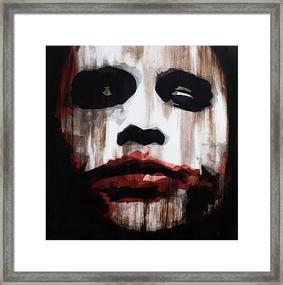 Heath Ledger Why So Serious Framed Print by Brad Jensen