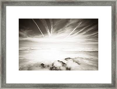 Framed Print featuring the photograph Heaven And Hell by Thierry Bouriat